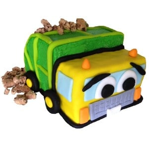 garbage truck cake kit 600