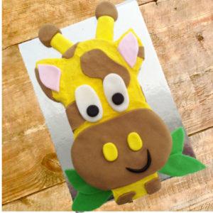 Giraffe birthday cake kit from Cake 2 The Rescue