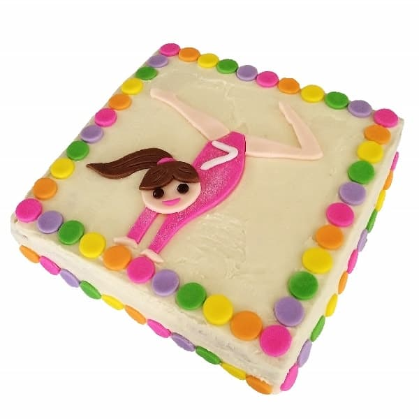 Gymnastics Cake Kit Girls Birthday Cake Recipe Kit