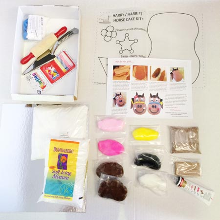 harriet horse DIY cake kit contents from Cake 2 The Rescue