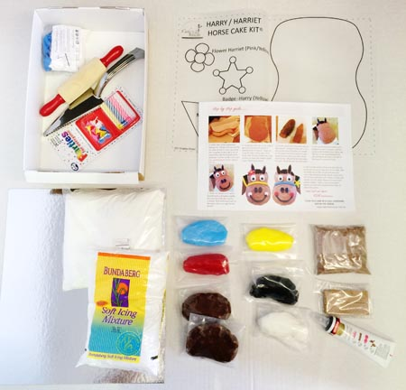 harry horse diy cake kit contents from Cake 2 The Rescue