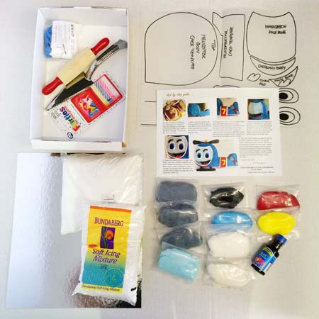 helicopter or transport themed birthay party DIY Cake kit contents from Cake 2 The Rescue