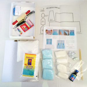 Ice Castle girls kit contents from Cake 2 The Rescue