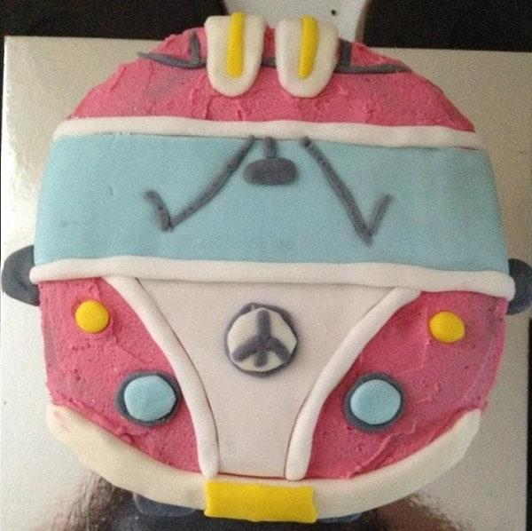 kombi van cake instructions