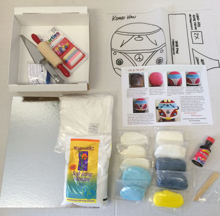 kombi van cakes for tween or tweens or Father's Day DIY cake kit contents from Cake 2 The Rescue