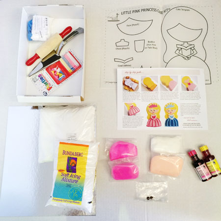 little princess DIY birthday cake kit contents from Cake 2 The Rescue
