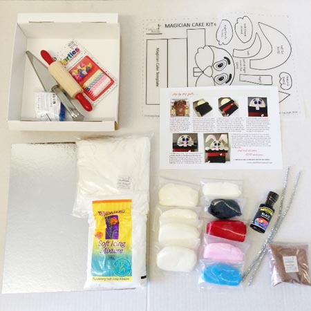 magician rabbit in a hat birthday cake DIY cake kit contents from Cake 2 The Rescue