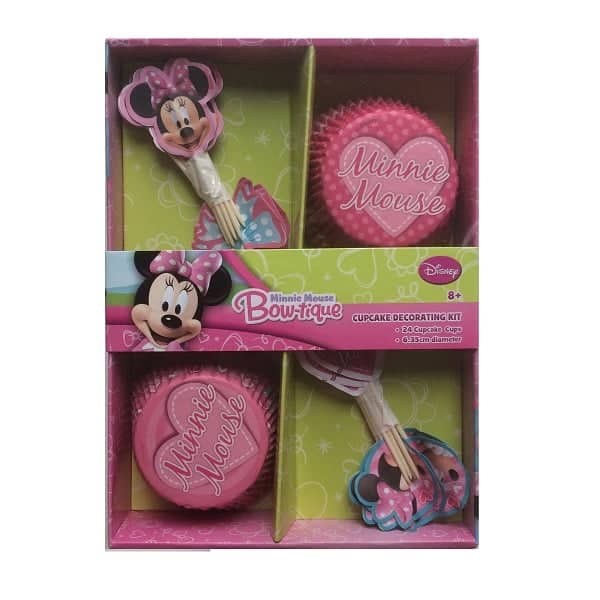 minnie mouse cupcake cases and picks set 600