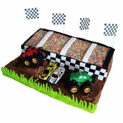 monster truck stadium cake kit 600