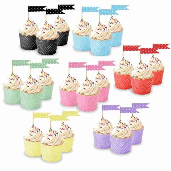 multi cupcake flags 7