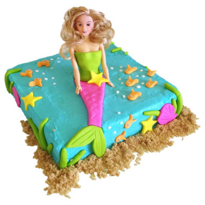 Ocean Mermaid Ariel birthday cake DIY kit from Cake 2 The Rescue