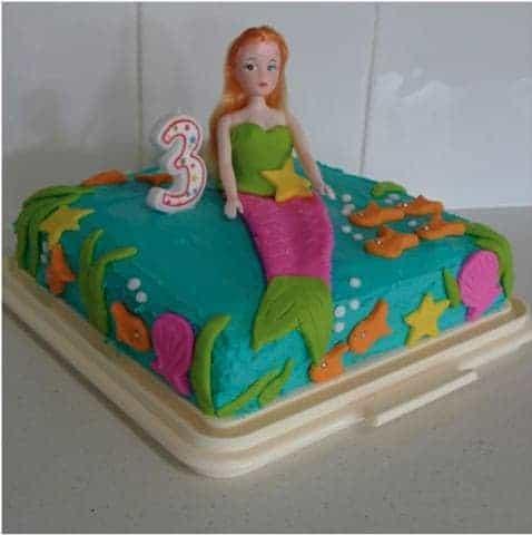 Ocean Mermaid Cake Kit Girls Birthday Cake Recipe Kit
