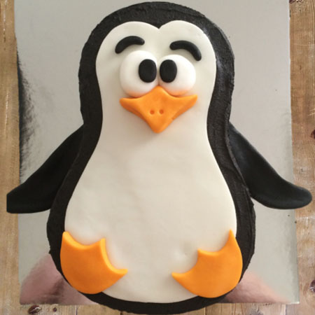 Penguin kids birthday cake kit from Cake 2 The Rescue