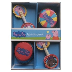 peppa pig cupcake cases and picks set 600