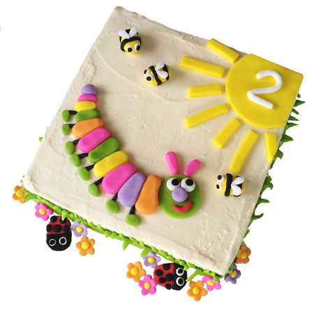 Pink caterpillar baby shower and birthday cake DIY kit from Cake 2 The Rescue