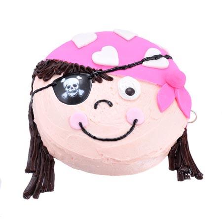 pirette girl pirate birthday cake DIY cake kit from Cake 2 The Rescue