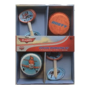 planes cupcake cases and picks set 600