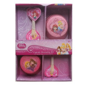 princess cupcake cases and picks set 600