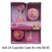 princess cupcake cases and picks set price