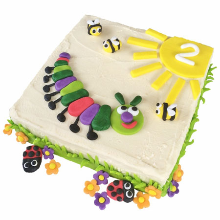 Red caterpillar birthday or baby shower for a boy cake DIY kit from Cake 2 The Rescue