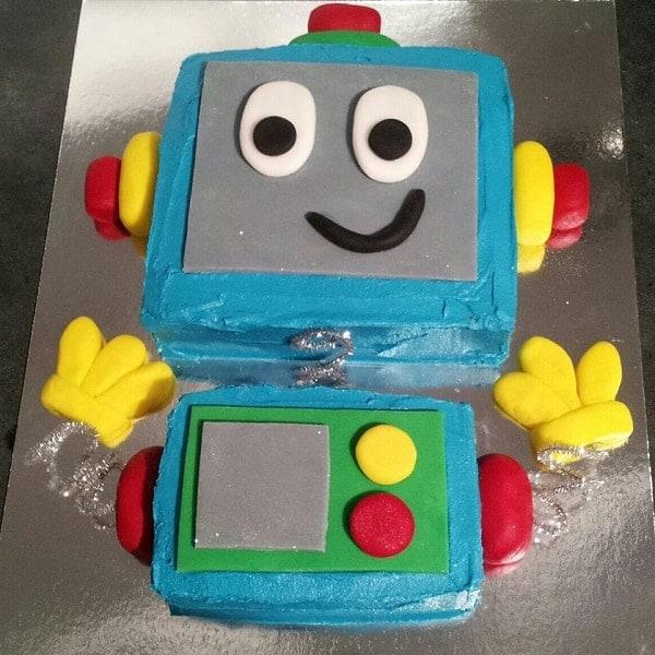 Miraculous Robot Dude Cake Kit Boys Birthday Cake Recipe Kit Diy Kit Funny Birthday Cards Online Alyptdamsfinfo
