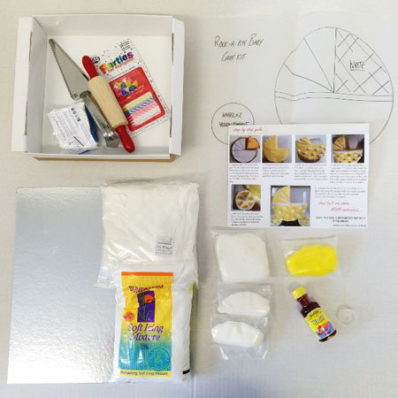 rock a bye baby DIY cake kit contents from Cake 2 The Rescue