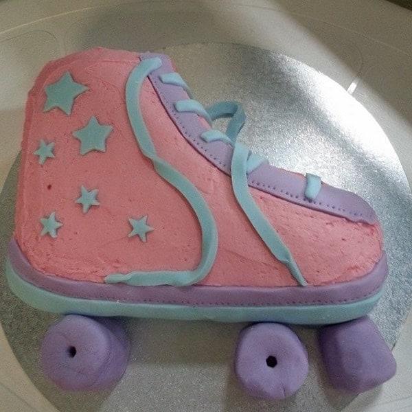 Roller Skate Cake Kit Girls Birthday Cake Recipe Kit Decorating Kit
