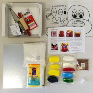 Rudolph Christmas cake kit contents from Cake 2 The Rescue
