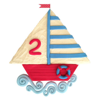 sailing boat baby shower cake DIY kit from Cake 2 The Rescue