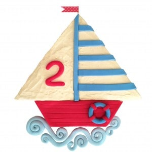 sailing boat diy cake kit