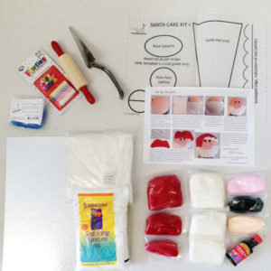 Santa Claus Christmas Cake kit contents from Cake 2 The Rescue