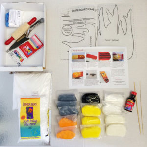 skateboard birthday cake kit contents from Cake 2 The Rescue