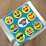 smiley faces diy cake kit wooden
