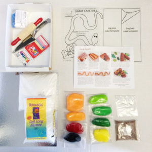Snake reptile cake kit contents from Cake 2 The Rescue