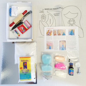 snowflake princess frozen themed cake kit contents from Cake 2 The Rescue