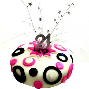 spots and stars Milestone black and pink 600