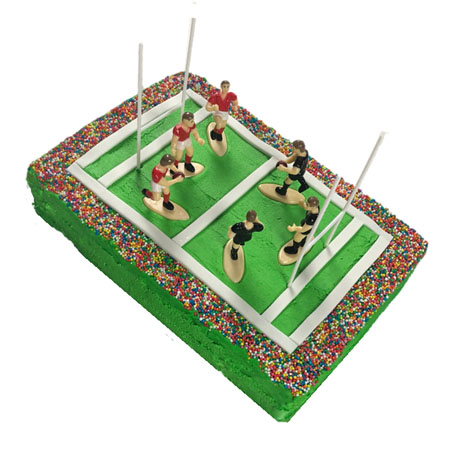 Stadium rugby union NRL birthday DIY cake kit from Cake 2 The Rescue