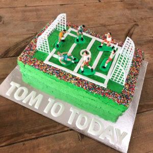 Stadium soccer birthday cake kit from Cake 2 The Rescue
