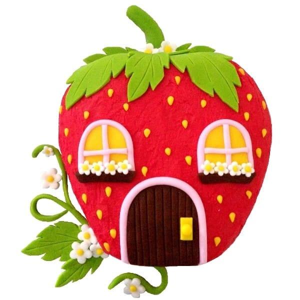 Strawberry House Cake Kit Girls Birthday Cake Recipe Kit