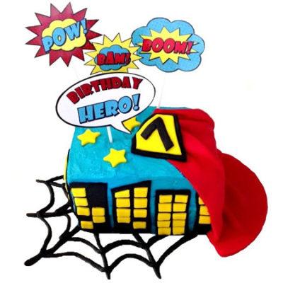 superhero blue birthday cake DIY cake kit from Cake 2 The Rescue