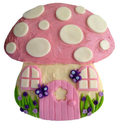 toadstool pink enchanted garden birthday cake DIY kit from Cake 2 The Rescue