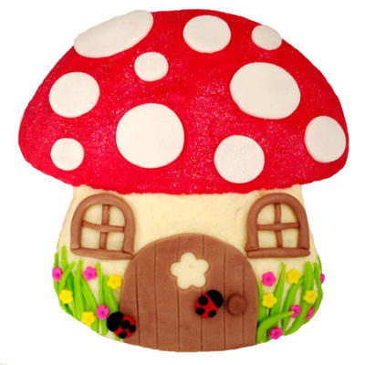 toadstool red enchanted garden baby shower DIY kit from Cake 2 The Rescue