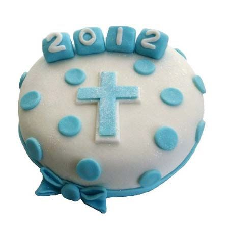 traditional christening or baptism cake for a boy or girl DIY cake kit from Cake 2 The Rescue