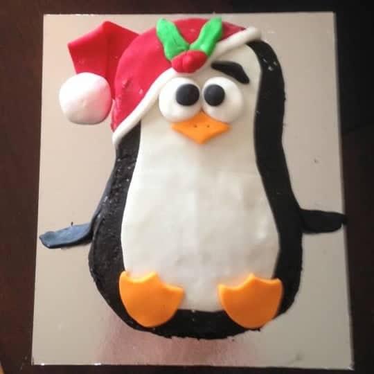 Christmas Penguin Cake Kit Birthday Dy Cake Kit