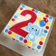 Number Elephant Cake Kit on Table