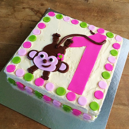 birthday number cheeky monkey DIY cake kit from Cake 2 The Rescue