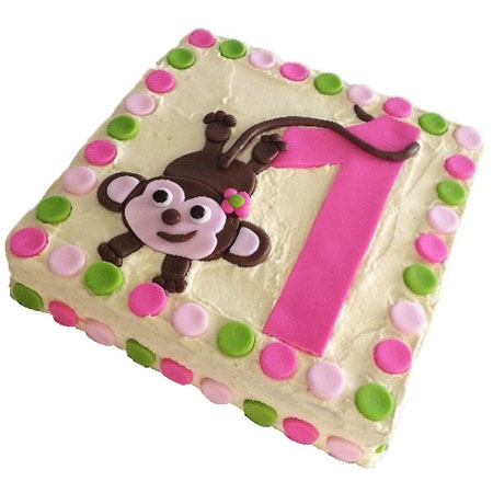 cheeky monkey number first birthday cake DIY kit from Cake 2 The Rescue