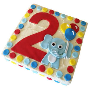 Elephant 1st Birthday cake DIY kit from Cake 2 The Rescue