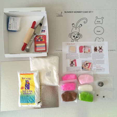 number cheeky monkey DIY birthday cake kit contents from Cake 2 The Rescue