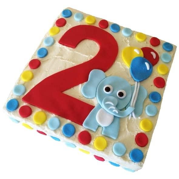 number elephant diy cake kit